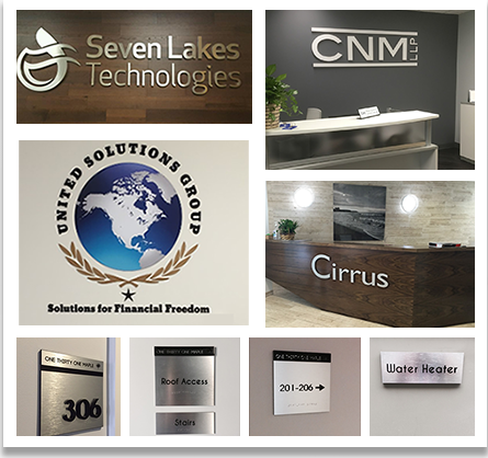 We love working with interior designers as well as business owners looking for a comprehensive office sign package to spruce up their establishment.
