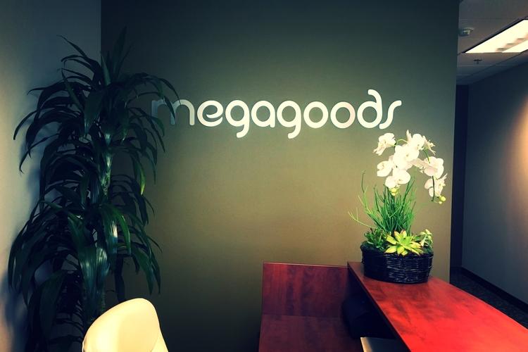 Acrylic_MetalLaminate_Reception_Sign_Megagoods_Santa_Clarita_PremiumSignSolutions