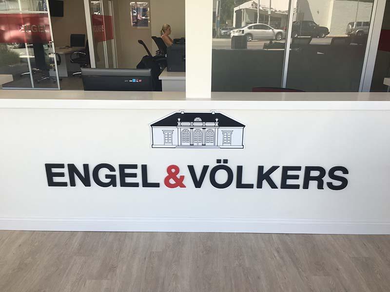 Lobby Sign, Engel & Volkers in Encino