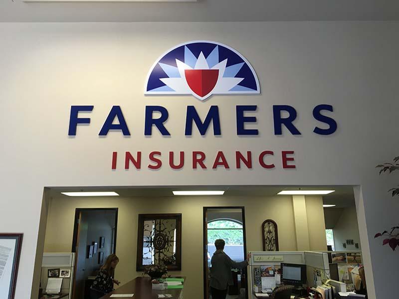Lobby Sign, Farmers in Westlake Village