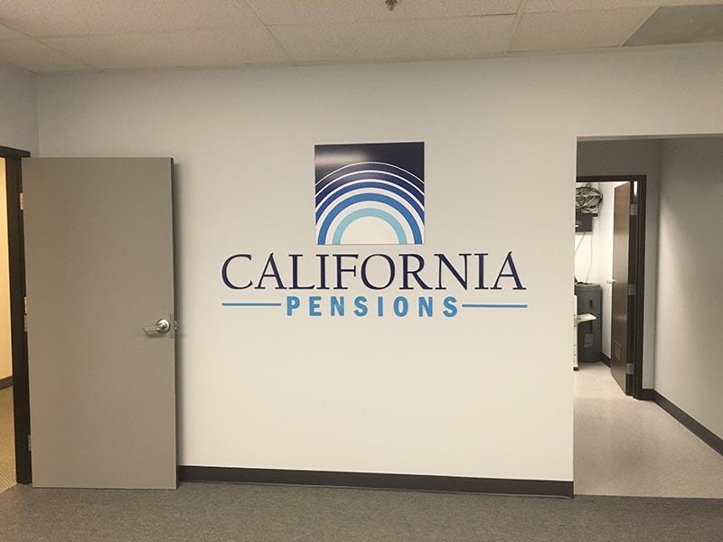 Lobby Sign, California Pensions in Northridge