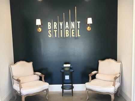 Brass Lobby Sign, Bryant Stibel in Malibu