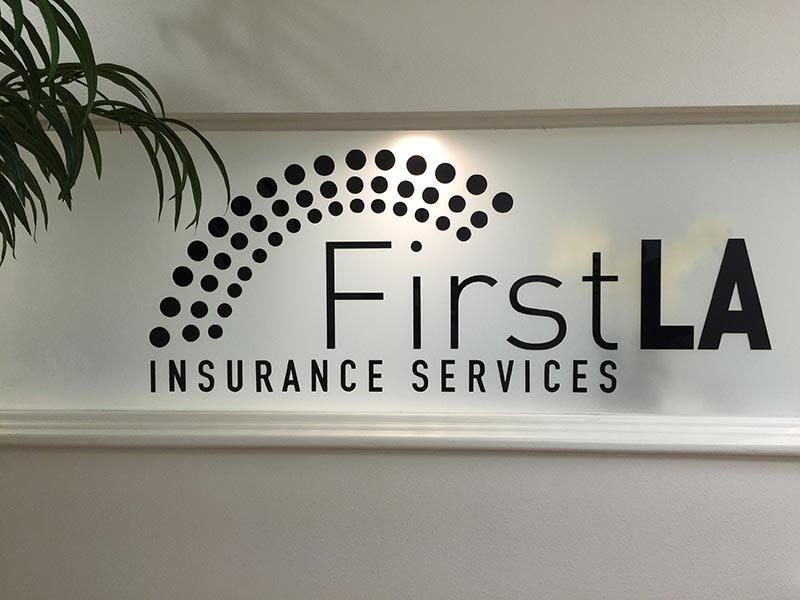 Lobby Sign, First LA Insurance Services in Woodland Hills