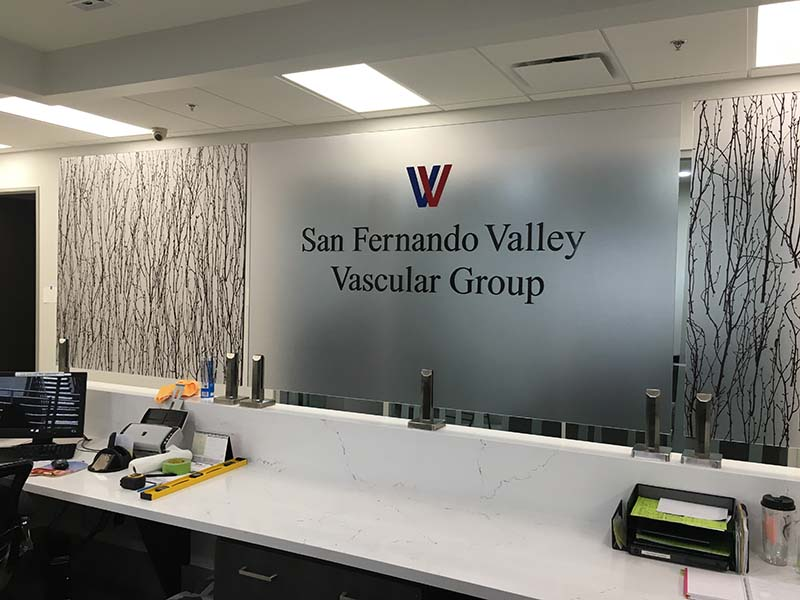 Lobby Sign San Fernando Valley Vascular Group In Tarzana