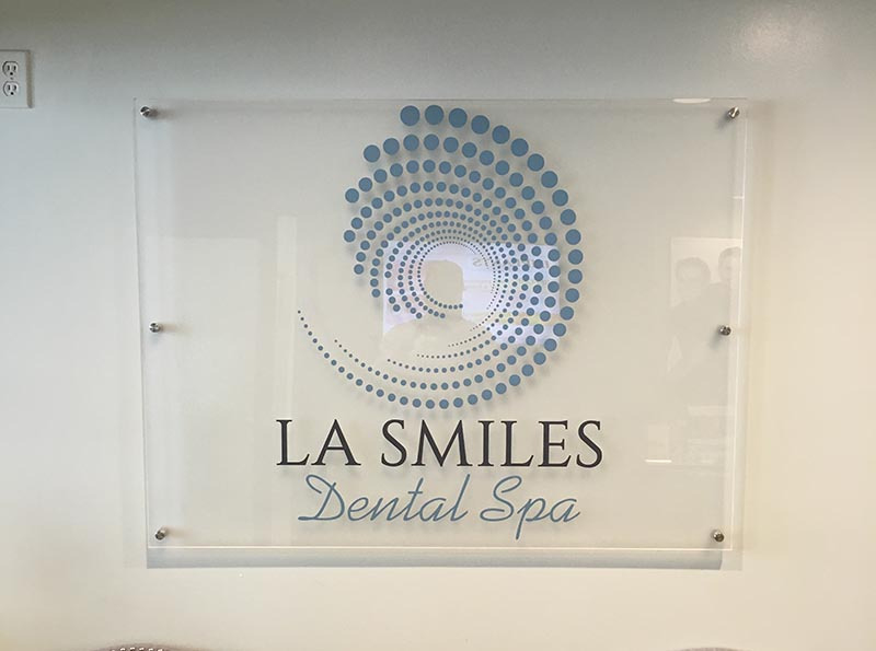 Lobby Sign, LA Smiles Dental Spa in Beverly Hills