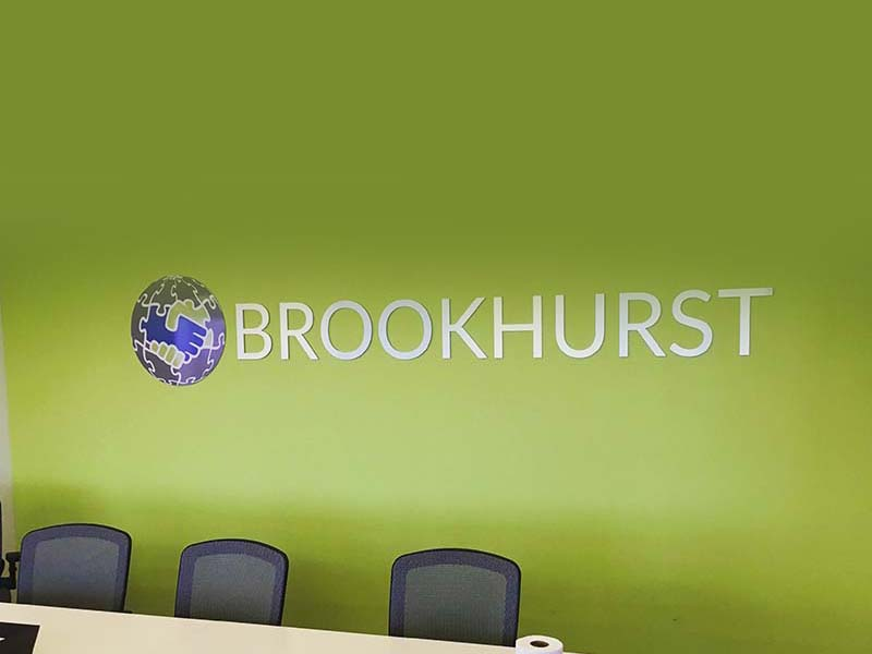 Lobby Sign, Brookhurst Insurance Services in Encino