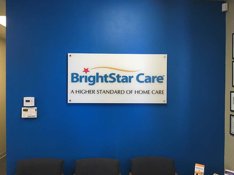 Core Values Sign, Brightstar Care in Van Nuys