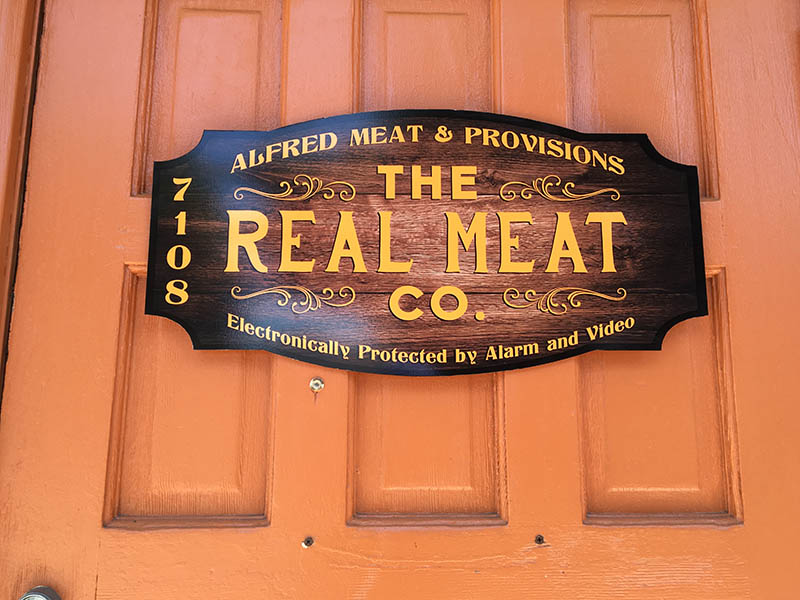 Custom Business Sign, Real Meat Co. in Van Nuys
