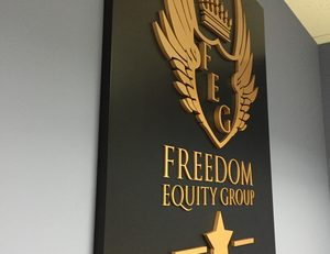 FreedomEquity_Lobby+Sign_WoodlandHills_PremiumSignSolutions