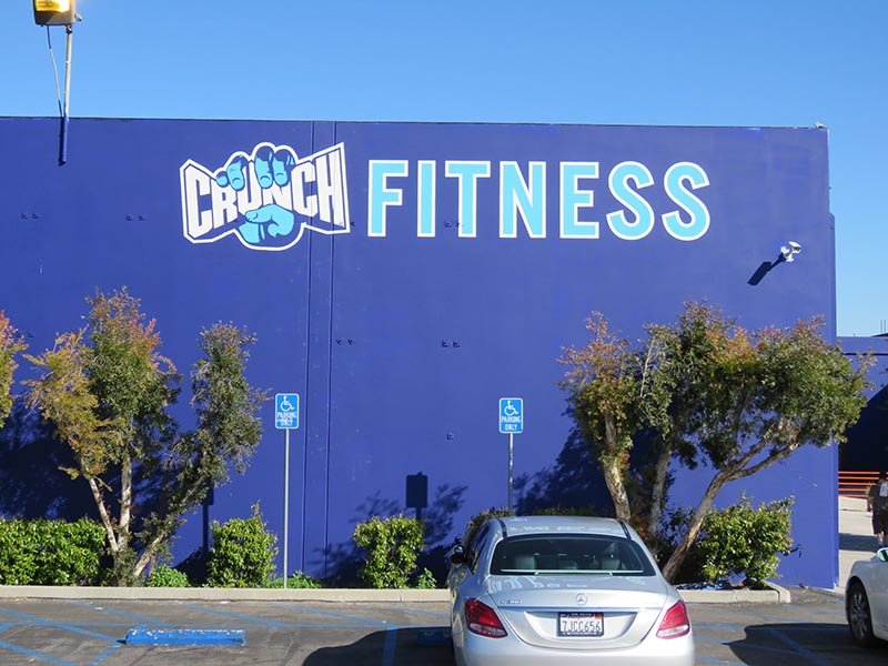 Hand Painted Sign, Crunch Fitness in Chatsworth