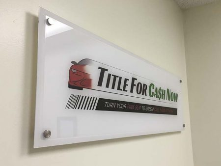 Lobby Sign,Title for Cash in Woodland Hills