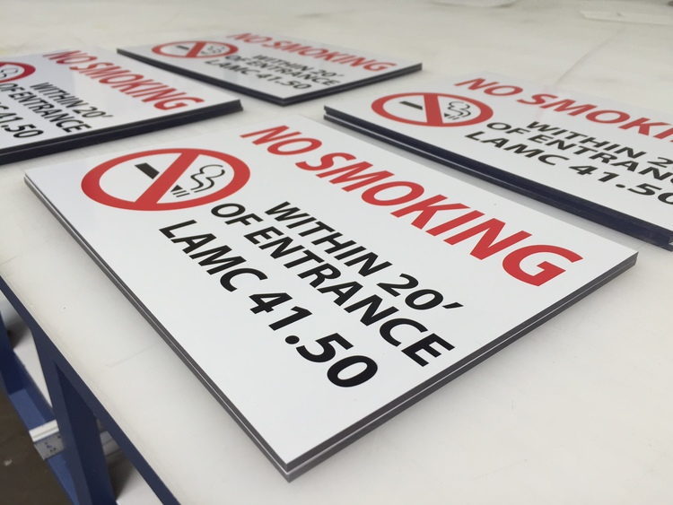 NoSmokingSign_WestValleyMedical_Encino_premiumSignSolutions