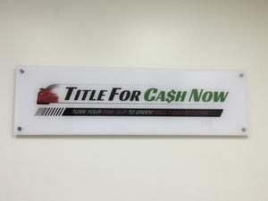TitleForCashNow_indoorlobbysign_LosAngeles_PremiumSignSolutions