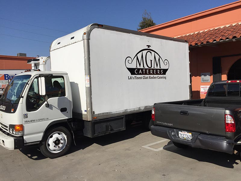 Box Truck Graphics, MGM Catering