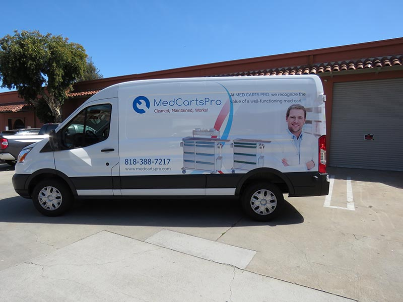 Vehicle Wrap, Med Carts Pro