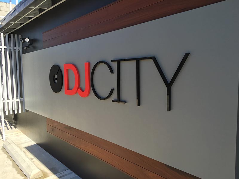 3D Sign, DJ City in Culver City
