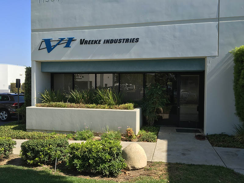 3D Business Sign, Vreeke Industries in Moorpark