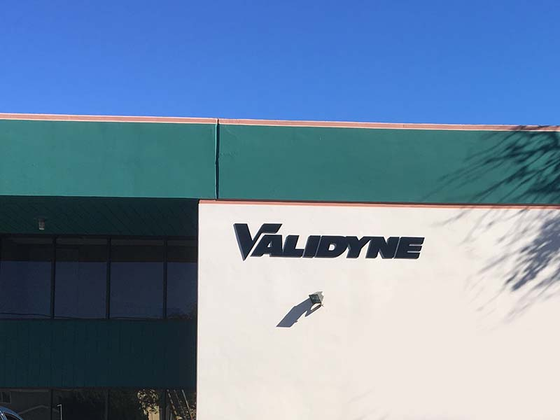 3D Business Sign, Validyne in Northridge