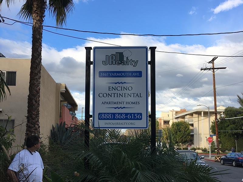 Apartment Sign, JP Realty in Tarzana