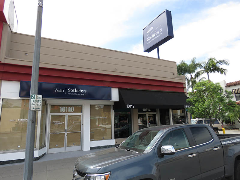 Pylon & Lightbox Sign, Wish Sotheby's in Toluca Lake