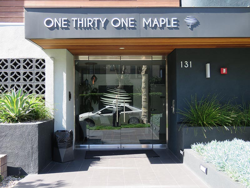Brushed Metal Letters, 131 Maple in Beverly Hills