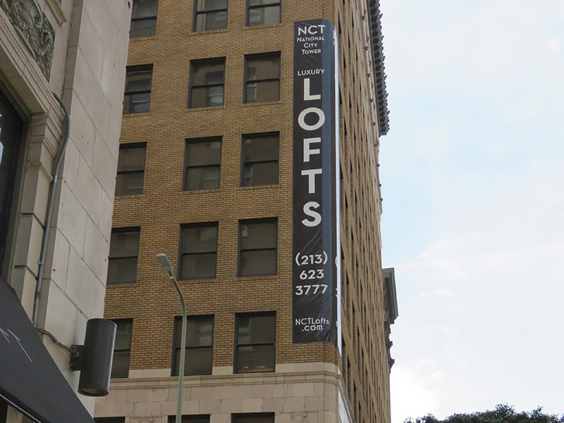 Custom Banner, Bankers Lofts in Downtown Los Angeles