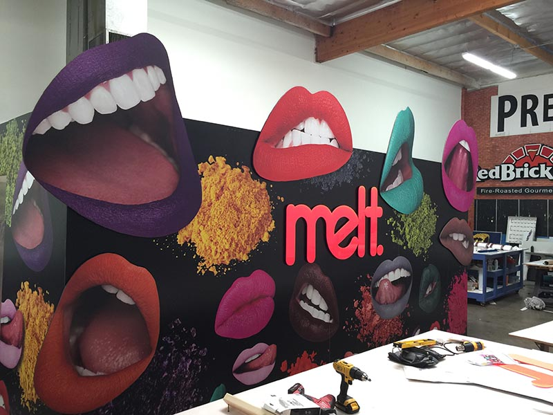 Custom Tradeshow Booth, Melt Cosmetics in Chatsworth