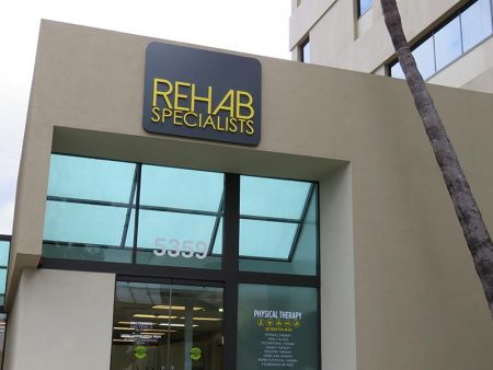 Metal Business Sign, Rehab Specialists in Encino