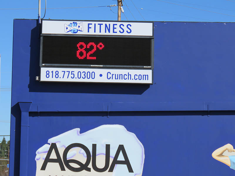 Lightbox & Digital Read Out Sign, Crunch Fitness in Chatsworth
