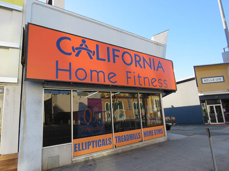 Lightbox Sign, California Home Fitness in Santa Monica
