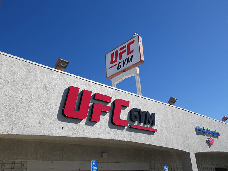 Channel Letters & Pylon Sign, UFC Gym in Northridge