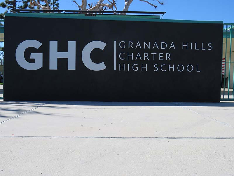 Brushed Metal Letters, Granada Hills Charter High School