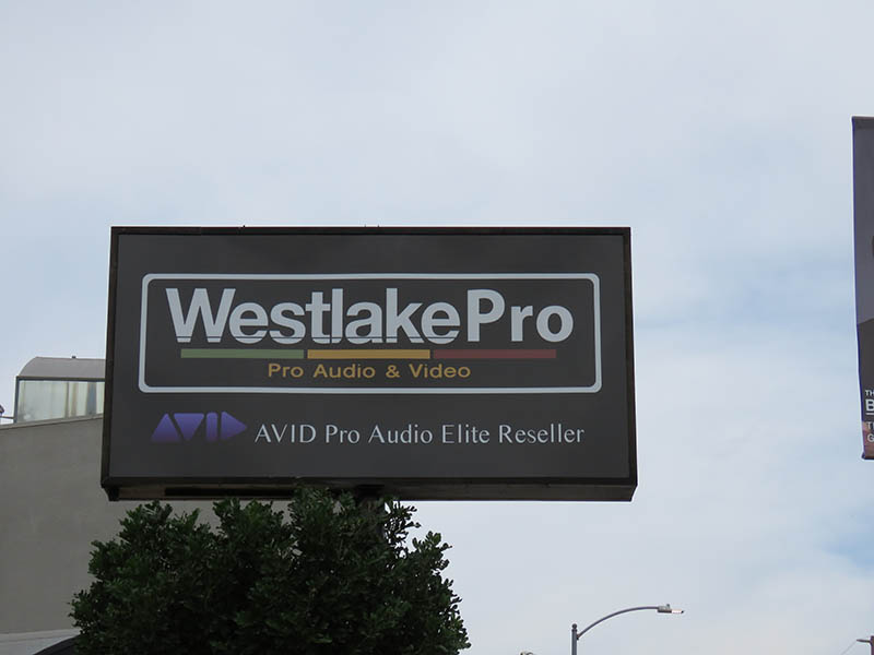 Pole Sign, Westlake Pro Audio in North Hollywood