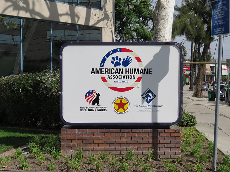 Lightbox Monument Sign, American Humane Society in Studio City