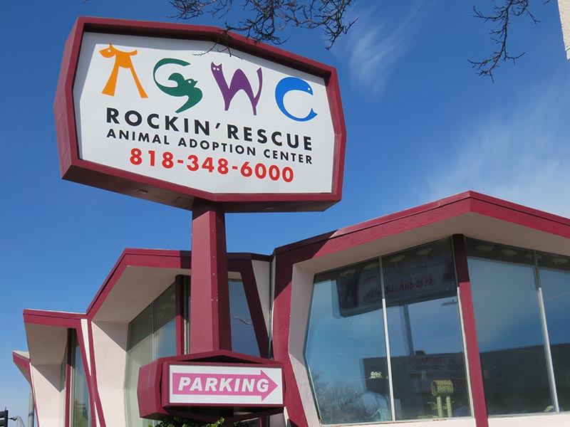 Pylon Sign, AGWC Rockin' Rescue in Woodland Hills