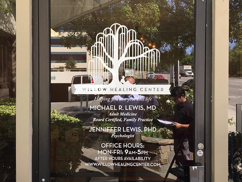 Window Graphics, Willow Healing Center in Woodland Hills