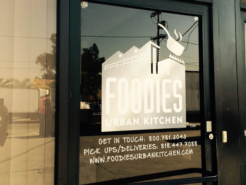 Etched Glass, Foodie's Urban Kitchen in Sun Valley