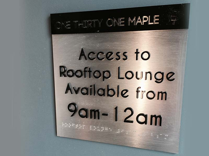 Custom ADA Sign, 131 Maple in Beverly Hills