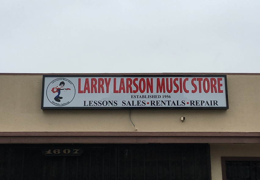 Business signs for larry larson music store in glendale premium painted sign lightbox sign business sign outdoor sign storefront sign illuminated aloadofball Gallery