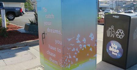 outdoor sign, wraps, art, santa monica, design, vinyl wrap, utility box wrap, electrical box wrap, beautification