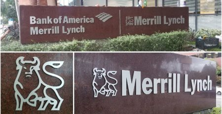 outdoor sign, business sign, monument sign, dimensional sign, merrill lynch, bank of america, encino