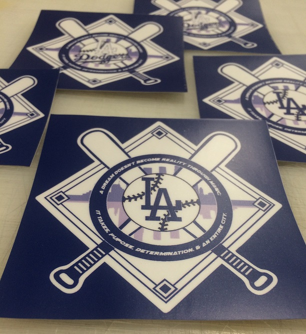 fan stickers, custom stickers, los angeles, los angeles dodgers, la dodgers, world series, baseball