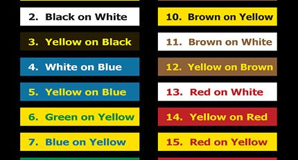 sign colors, colors for best visibility, easy to read signs, indoor sign, outdoor sign, Los Angeles, branding
