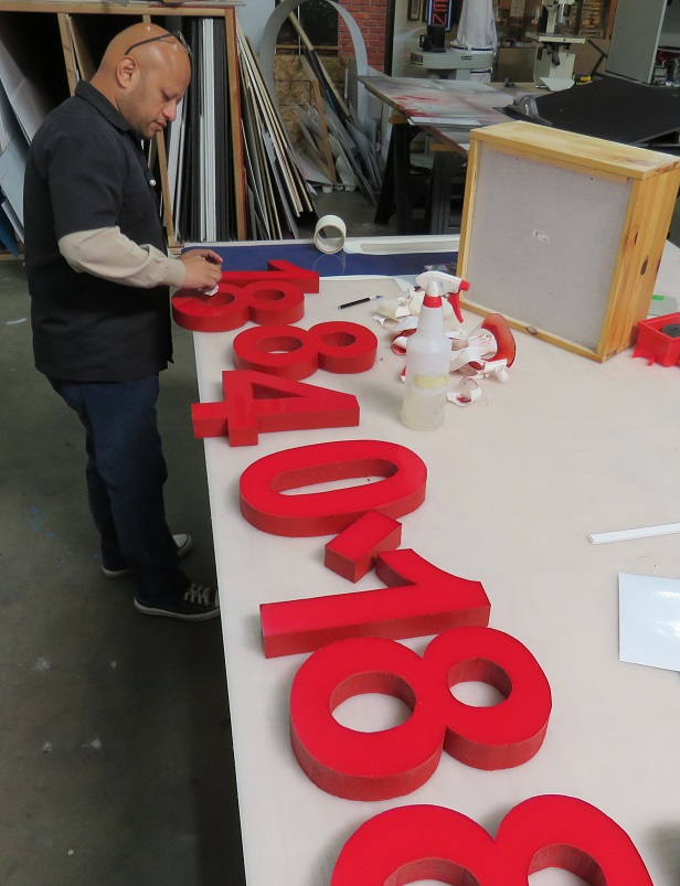custom sign, handmade signs, signmaker, indoor sign, outdoor sign, lobby sign, storefront sign, Los Angeles, San Fernando Valley