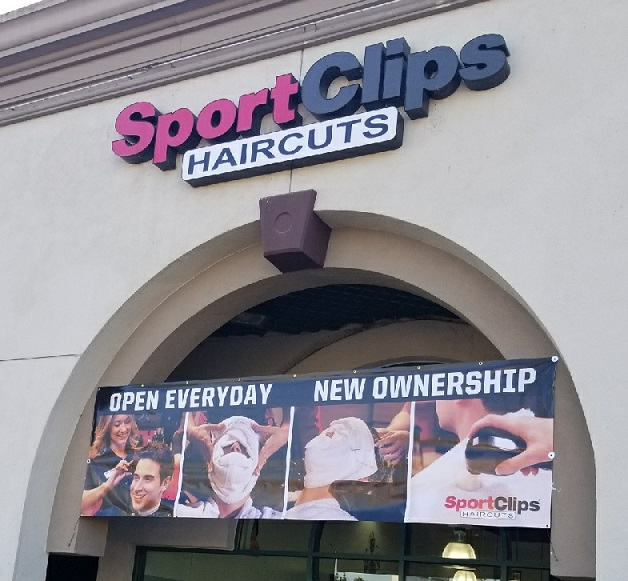 Premium Full Color Banner For Sport Clips Haircuts In
