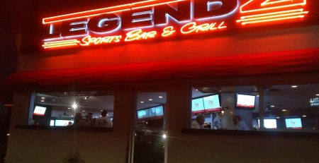 Business sign, bar sign, restaurant sign, neon sign, classic sign, legendz sports bar and grill, lake havasu city, arizona