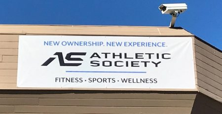 custom banner, outdoor sign, thousand oaks, athletic society, Los Angeles