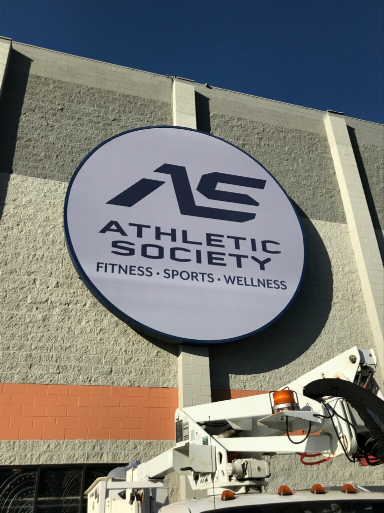 sign repair, lightbox repair, panaflex signs, sign refacing, pylon signs, building signs, gym signs, canoga park, athletic society