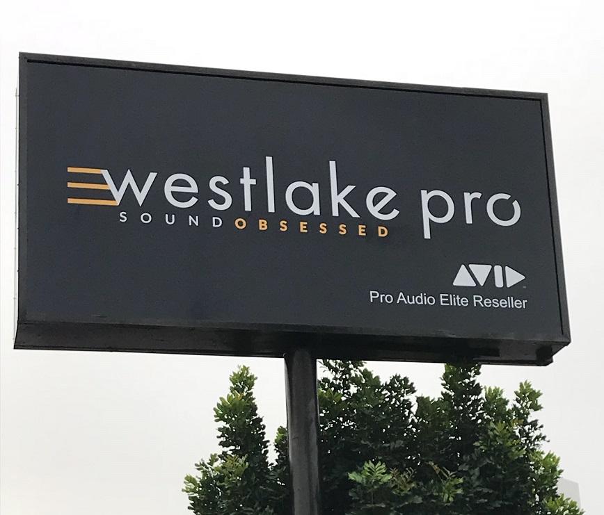 Pole sign, pylon, business sign, sign inserts, sign maker, tarzana, westlake pro, music store