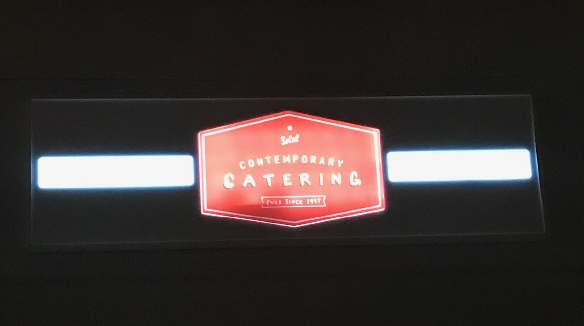 Illuminated signage, lightbox sign, lightbox insert, routed sign, push through sign, custom illuminated signs, catering signs, encino